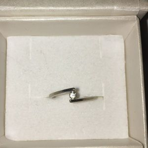 Jewelry - 10k white gold ring 1/4 ct